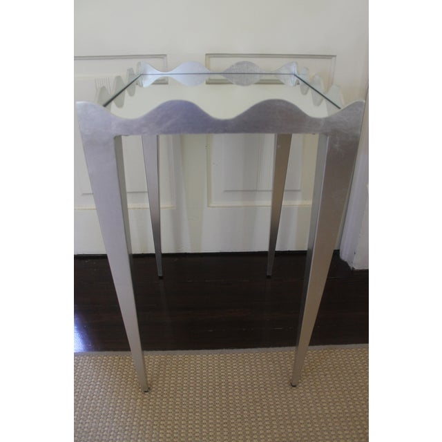 Glass Worlds Away Wave Edge Side Table For Sale - Image 7 of 10