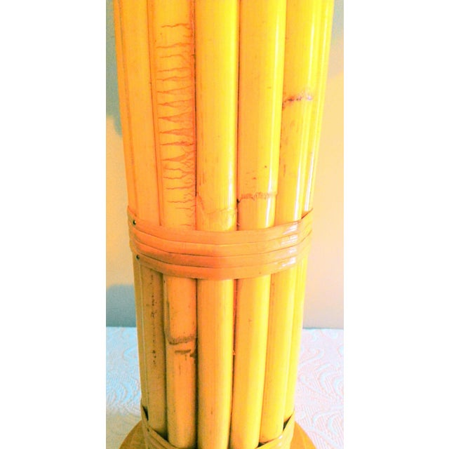 Vintage Regency Style Bamboo Lamp - Image 3 of 8