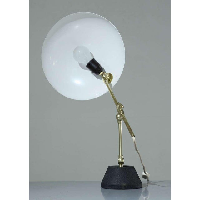 Mid-Century Modern Green Shaded BAG Turgi Table Lamp, Switzerland, 1950s For Sale - Image 3 of 6
