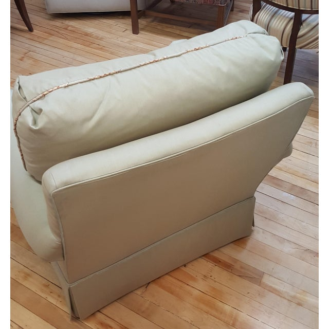 Traditional Hickory Chair Mint Green Club Chair For Sale - Image 3 of 8