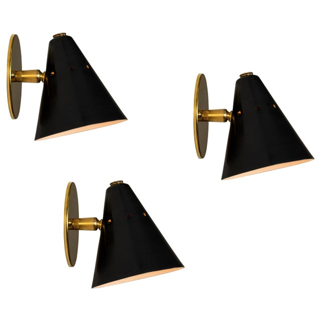 Mid-Century Modern 1950s Italian Perforated Cone Sconce in the Manner of Arteluce For Sale - Image 3 of 12