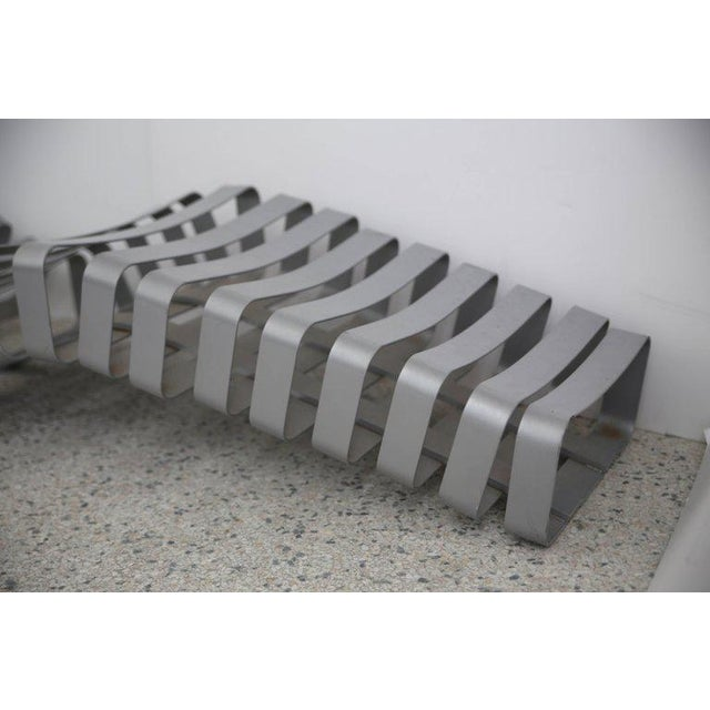 Modern Artisan Garden Chaise in Powder Coated Metal For Sale - Image 11 of 13