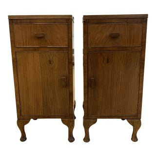 Mid-20th Century- European Wood Narrow Side Tables For Sale