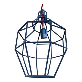 Riviera Grey Velvet Pendant by Paola Navone For Sale