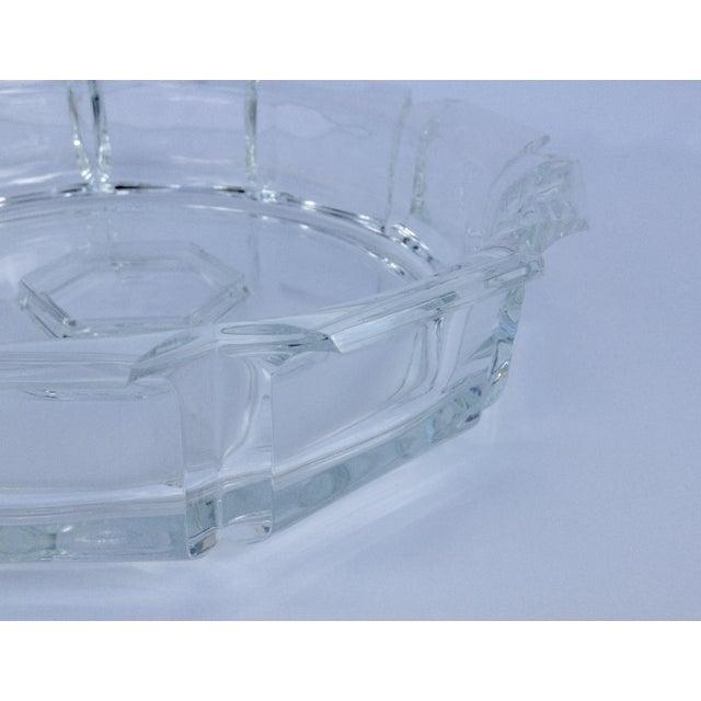 Plastic Modern Lucite Fluted Server Center Bowl For Sale - Image 7 of 11