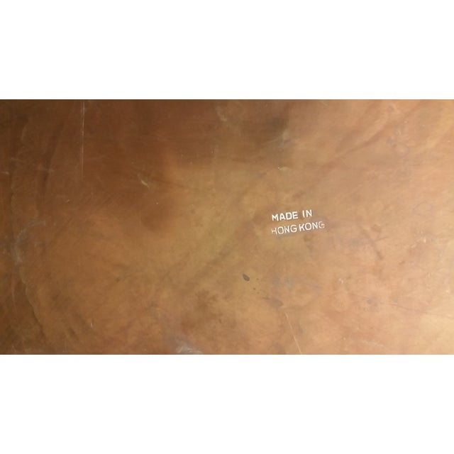 Mid-Century Brass Top Moroccan Style Coffee Table For Sale - Image 7 of 11