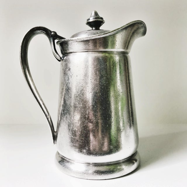 1950s 1954 Silver Plated Insulated Pitcher From the Ambassador Hotel NYC For Sale - Image 5 of 7