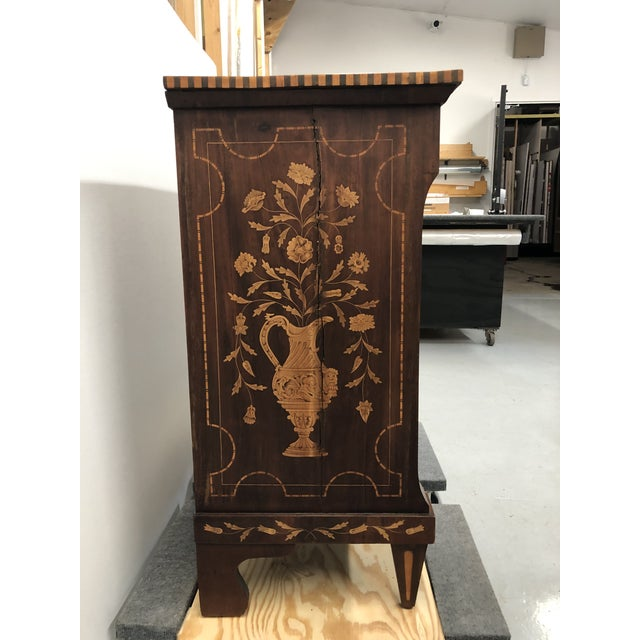 Early 19th Century Dutch Hardwood Inlaid Four Drawer Chest For Sale - Image 11 of 13