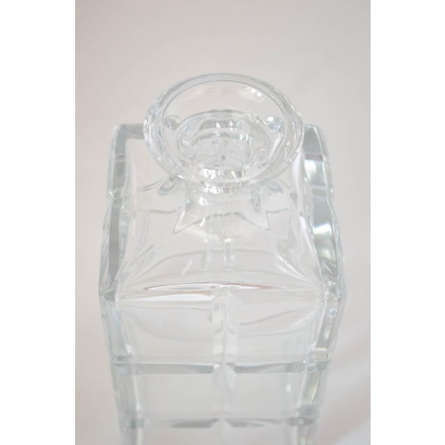 Square Cut Crystal Whiskey Decanter W/Stopper For Sale In San Francisco - Image 6 of 9