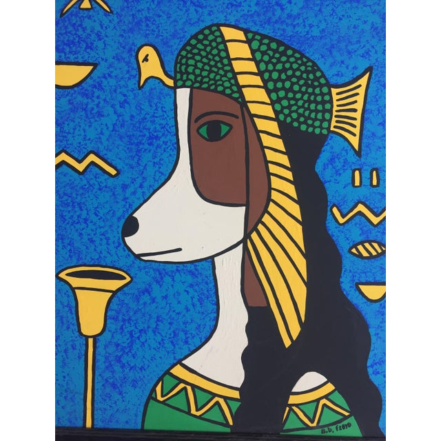 Cleopatra Hound Original Painting by B.D.Floyd For Sale - Image 4 of 5