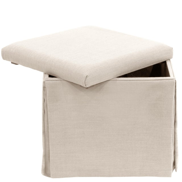 This Storage Ottoman adds valuable extra storage to your living space, featuring a hidden compartment under its...
