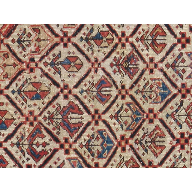 Early-20th century, antique Caucasian Kazak carpet. Hand-Woven, Professionally washed.