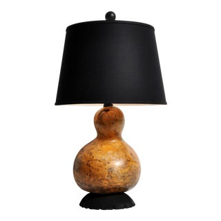 Organic Modern Style Gourd Lamp With Shade For Sale