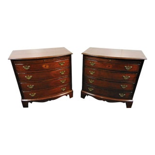 Lexington Palmer Home Collection Mahogany Inlaid Nightstands - a Pair For Sale