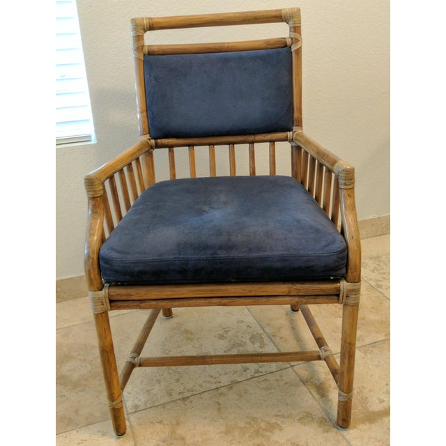 McGuire Rattan Accent Dining Chairs - Set of 6 - Image 3 of 5