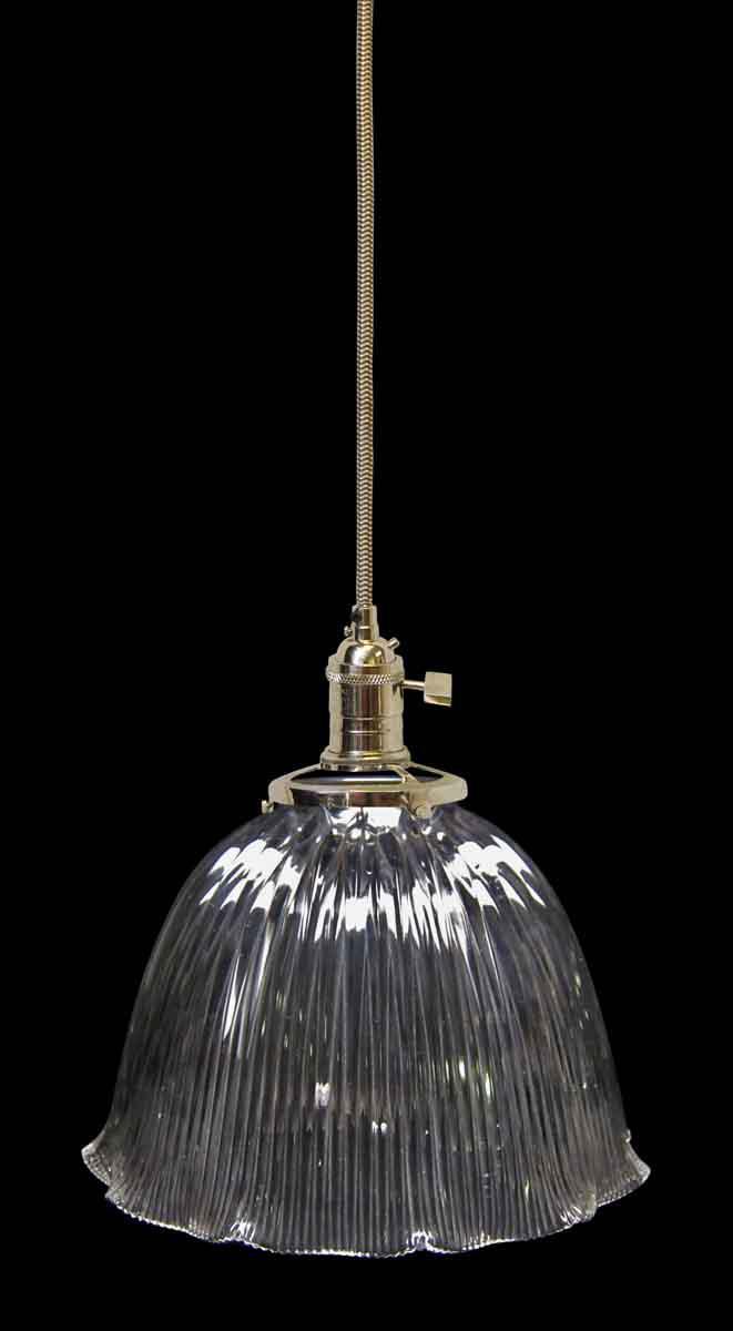 Antique Holophane Prism Glass Pendant Light - Image 2 of 5  sc 1 st  Chairish & Antique Holophane Prism Glass Pendant Light | Chairish