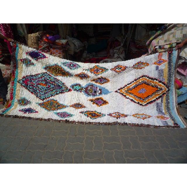 Moroccan Boucherouite Rug - 4′11″ × 9′6″ - Image 6 of 6