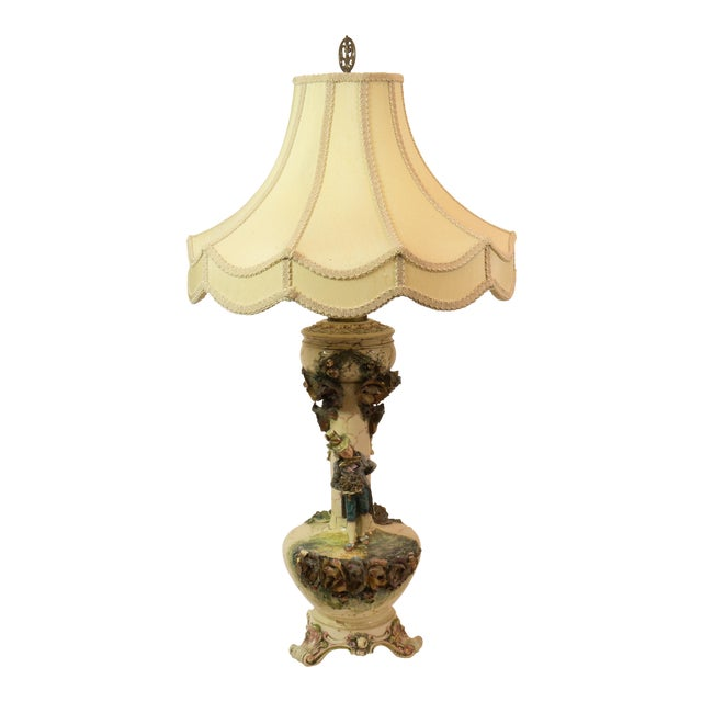 Majolica French Pottery Lamp - Image 1 of 8