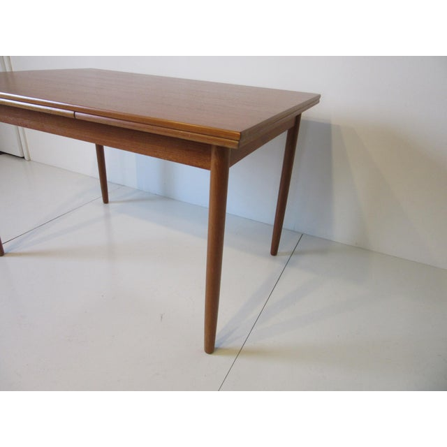Danish Modern L & F Mobler Danish Modern Teak Extendable Dining Table For Sale - Image 3 of 8