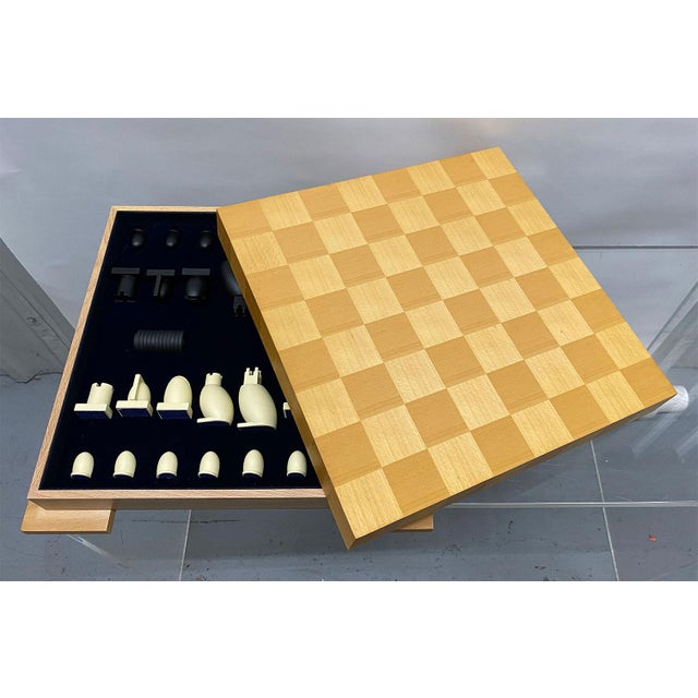 Tan 1990s Postmodern Chess / Checkers Set by Michael Graves For Sale - Image 8 of 13