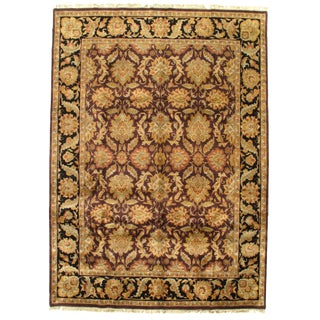 Pasargad Fine Indo Agra Wool Rug - 9′ × 12′ For Sale