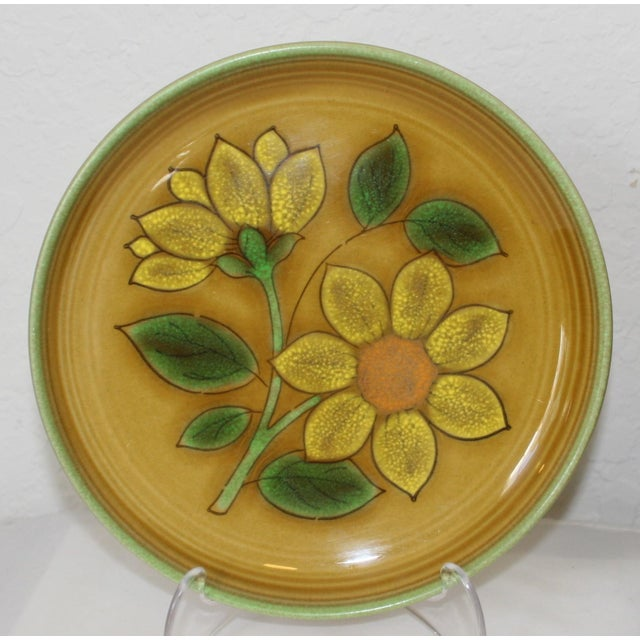 Vintage Metlox Poppytrail California Pottery Luncheon Plates - Set of 4 - Image 3 of 7
