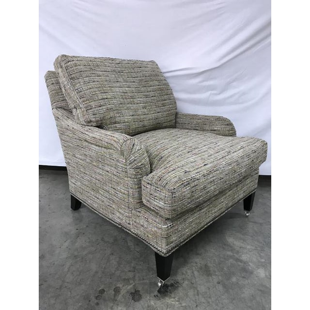 Transitional Highland House Sills Chair With Casters For Sale - Image 3 of 5