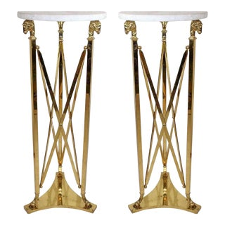 Pair of Maison Jansen Style Plant Stands For Sale