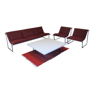 Knoll Sofa Lounge Chairs by Hannah & Morrison - Set of 3 For Sale