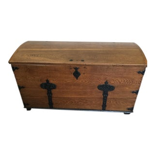 Mid-19th Century Swedish Wooden Wedding Chest