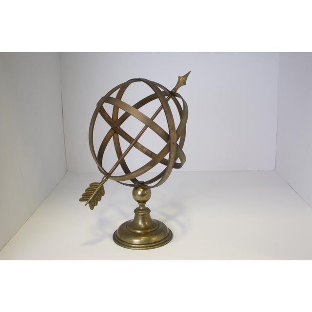 Brass 1960s Industrial Solid Brass Armillary Sphere For Sale - Image 7 of 7
