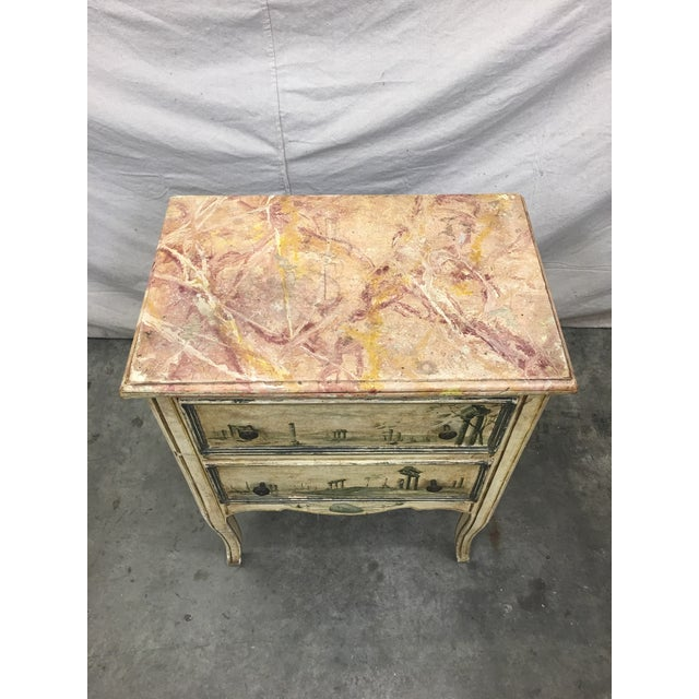 19th C Venetian Petite Painted Chest of Drawers - Commode For Sale - Image 4 of 12