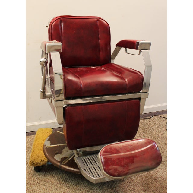 Vintage Mid Century Modern Narda Barber Chair - Image 3 of 11