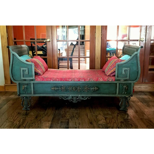 Early 19th Century Antique French Iron Daybed For Sale - Image 5 of 12
