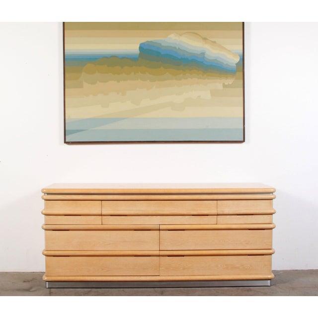 1980s Vintage Jay Spectre for Century Furniture Cerused Oak Dresser For Sale - Image 13 of 13