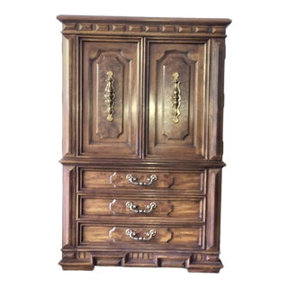 1970s American Classical Thomasville Highboy For Sale
