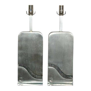 Pierre Cardin Stainless Steel Capsule Lamps For Sale