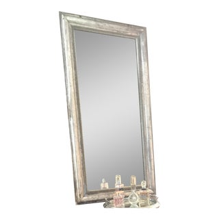 Antique French Silver Leaf Mirror For Sale