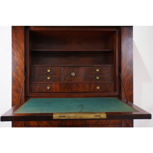 French Empire Secretaire a Abattant with Cuban Acajou Mahogany: 19th C. For Sale - Image 10 of 10