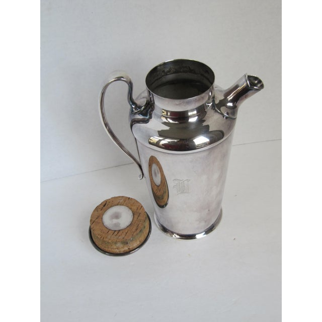 """Art Deco Drink Pitcher with Initial """"D"""" For Sale - Image 10 of 11"""
