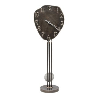 Jon Sarriugarte Postmodern Form & Reform Metal Clock For Sale