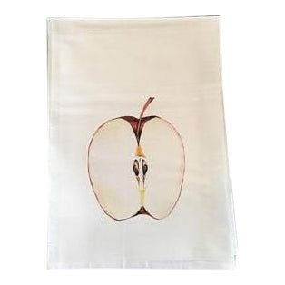Apple Motif Tea Towel