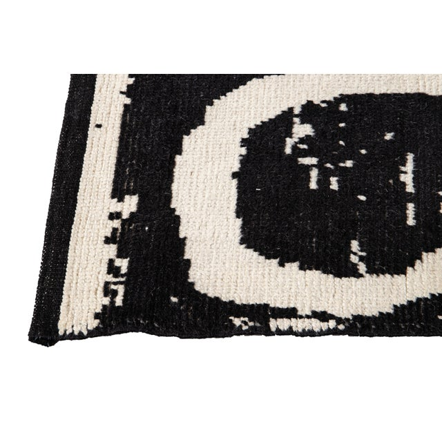 2010s 21st Century Modern Moroccan Style Wool Rug For Sale - Image 5 of 13