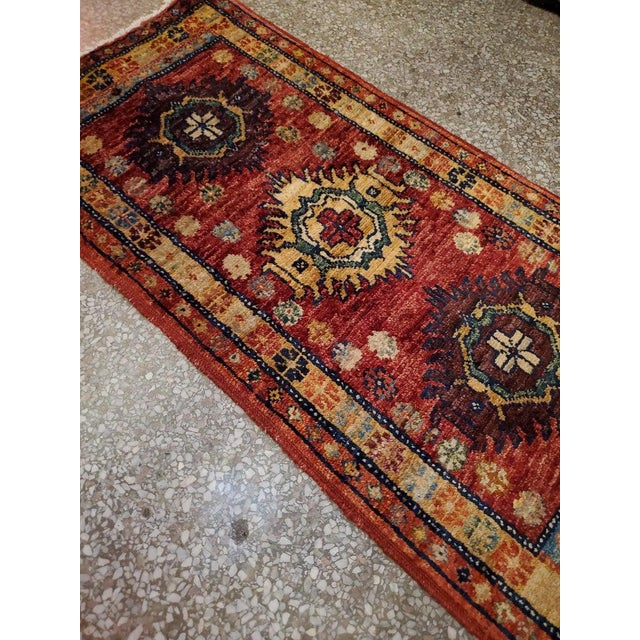 """Islamic Afghan Tribal Red Rug-1'8'x3'3"""" For Sale - Image 3 of 7"""
