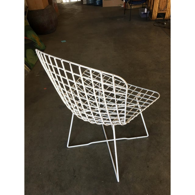 "1950s White Bertoia Steel Wire ""X"" Base Side Chairs by Knoll - Set of 6 For Sale - Image 5 of 10"