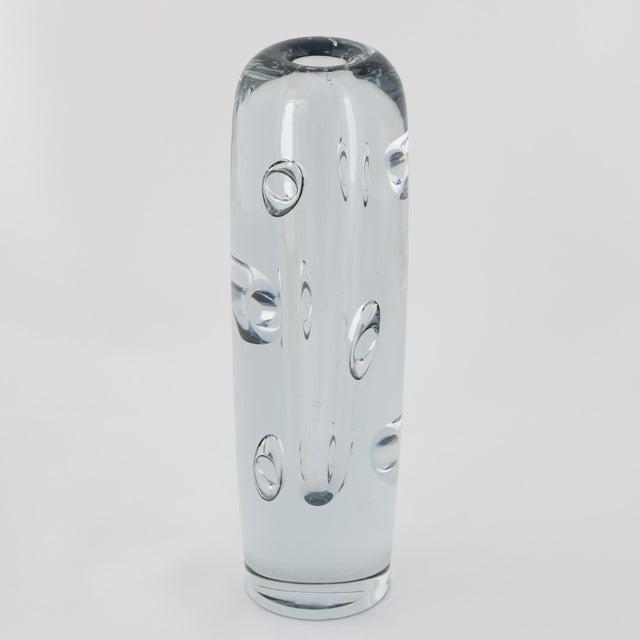 1950s 1950's VINTAGE STROMBERGSHYTTAN GLASS VASE For Sale - Image 5 of 10