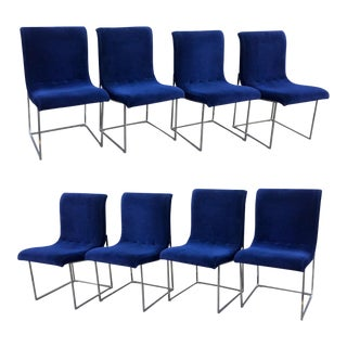 1970s Vintage Milo Baughman for Thayer Coggin Dining Chairs- Set of 8 For Sale