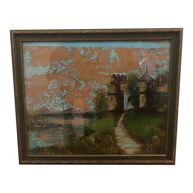 Painting of Castle - Reverse Painting on Glass - Image 1 of 6
