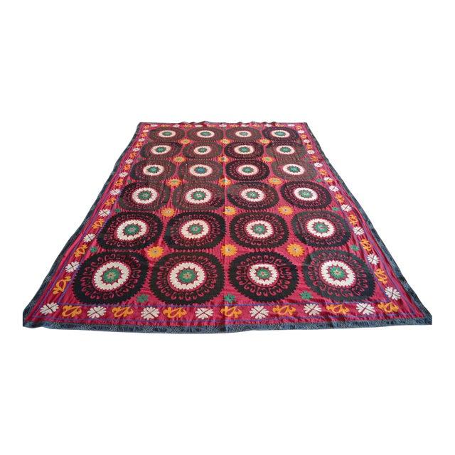 Big Size Colorful Suzani Bedspread - Image 1 of 6