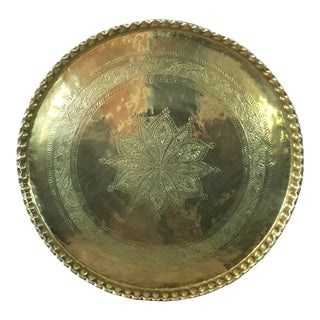 20th Century Persian Brass Tray